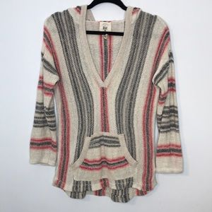 Billabong boho poncho styl lightweight long sleeve